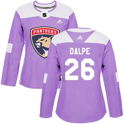 Women's Authentic Florida Panthers Zac Dalpe Adidas Fights Cancer Practice Jersey - Purple