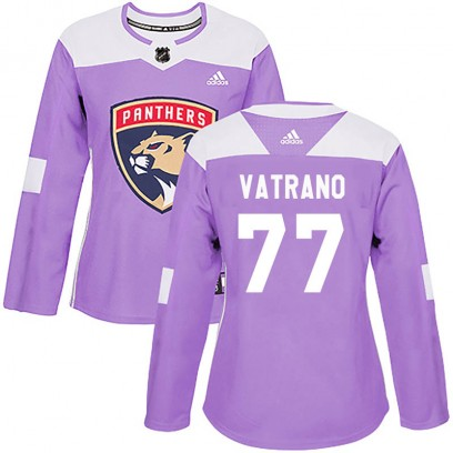 Women's Authentic Florida Panthers Frank Vatrano Adidas Fights Cancer Practice Jersey - Purple