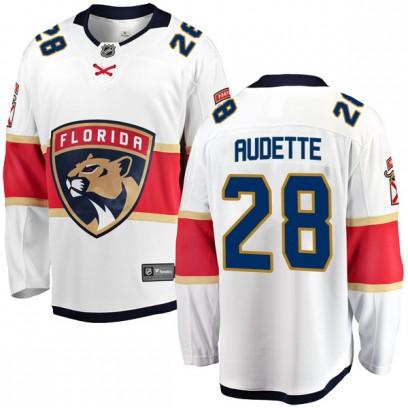 Men's Breakaway Florida Panthers Donald Audette Fanatics Branded Away Jersey - White