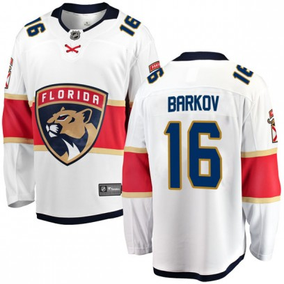 Men's Breakaway Florida Panthers Aleksander Barkov Fanatics Branded Away Jersey - White
