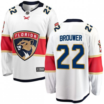 Men's Breakaway Florida Panthers Troy Brouwer Fanatics Branded Away Jersey - White