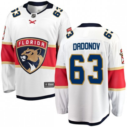 Men's Breakaway Florida Panthers Evgenii Dadonov Fanatics Branded Away Jersey - White