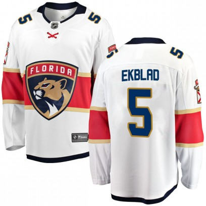 Men's Breakaway Florida Panthers Aaron Ekblad Fanatics Branded Away Jersey - White
