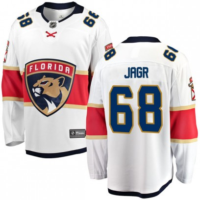 Men's Breakaway Florida Panthers Jaromir Jagr Fanatics Branded Away Jersey - White