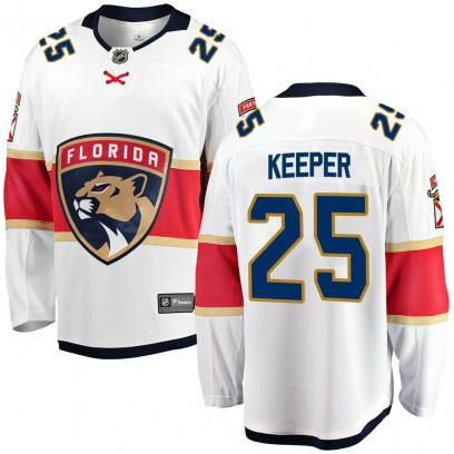 Men's Breakaway Florida Panthers Brady Keeper Fanatics Branded Away Jersey - White