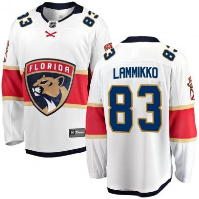 Men's Breakaway Florida Panthers Juho Lammikko Fanatics Branded Away Jersey - White