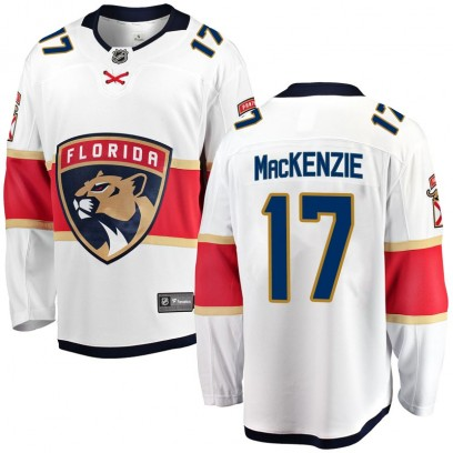 Men's Breakaway Florida Panthers Derek Mackenzie Fanatics Branded Derek MacKenzie Away Jersey - White