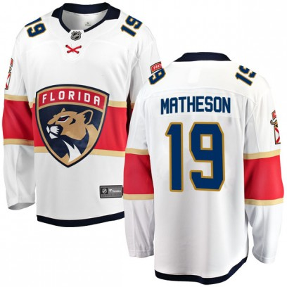 Men's Breakaway Florida Panthers Michael Matheson Fanatics Branded Away Jersey - White