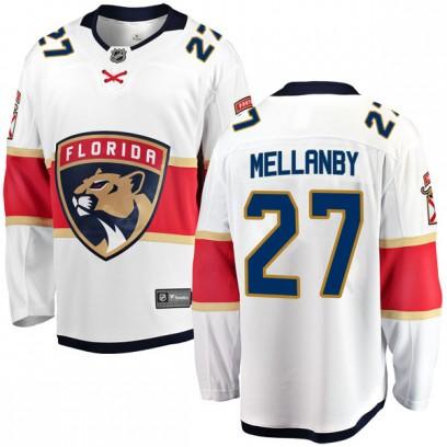 Men's Breakaway Florida Panthers Scott Mellanby Fanatics Branded Away Jersey - White