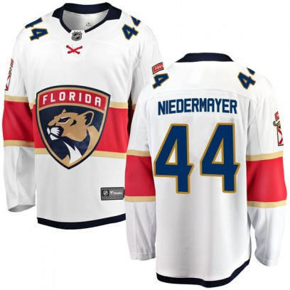 Men's Breakaway Florida Panthers Rob Niedermayer Fanatics Branded Away Jersey - White