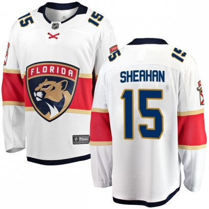 Men's Breakaway Florida Panthers Riley Sheahan Fanatics Branded Away Jersey - White