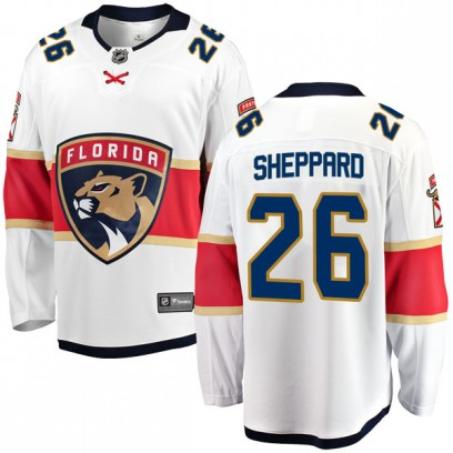 Men's Breakaway Florida Panthers Ray Sheppard Fanatics Branded Away Jersey - White