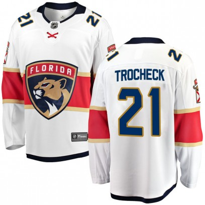 Men's Breakaway Florida Panthers Vincent Trocheck Fanatics Branded Away Jersey - White