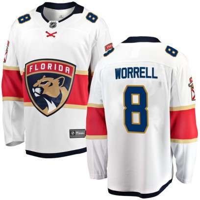 Men's Breakaway Florida Panthers Peter Worrell Fanatics Branded Away Jersey - White