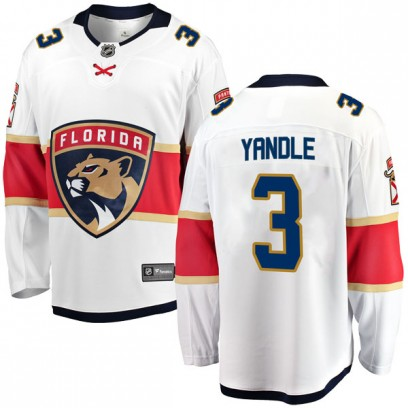 Men's Breakaway Florida Panthers Keith Yandle Fanatics Branded Away Jersey - White