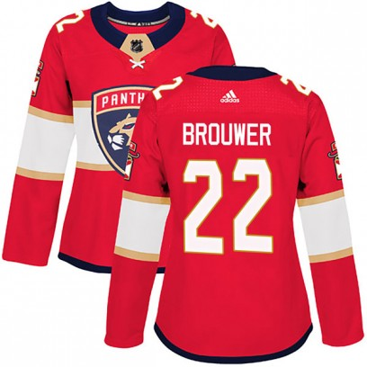 Women's Authentic Florida Panthers Troy Brouwer Adidas Home Jersey - Red