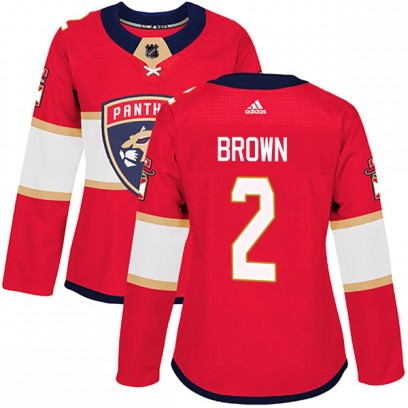 Women's Authentic Florida Panthers Josh Brown Adidas Home Jersey - Red