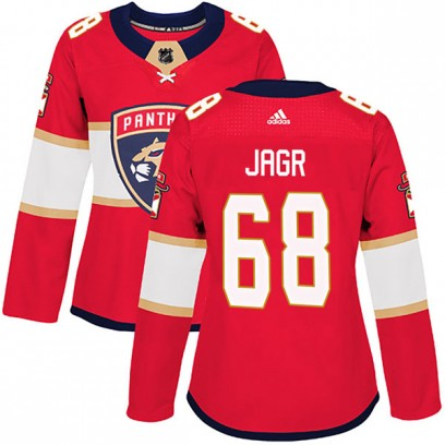 Women's Authentic Florida Panthers Jaromir Jagr Adidas Home Jersey - Red