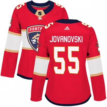 Women's Authentic Florida Panthers Ed Jovanovski Adidas Home Jersey - Red