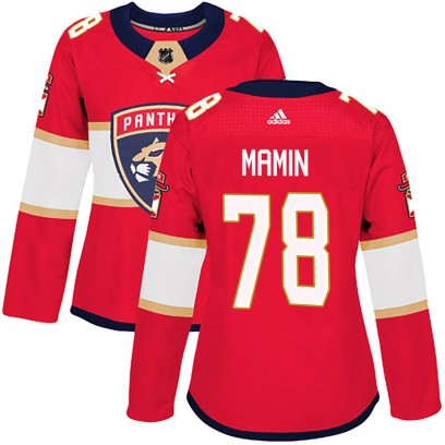 Women's Authentic Florida Panthers Maxim Mamin Adidas Home Jersey - Red