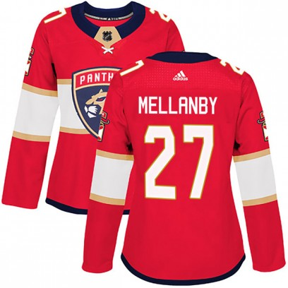 Women's Authentic Florida Panthers Scott Mellanby Adidas Home Jersey - Red