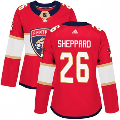 Women's Authentic Florida Panthers Ray Sheppard Adidas Home Jersey - Red