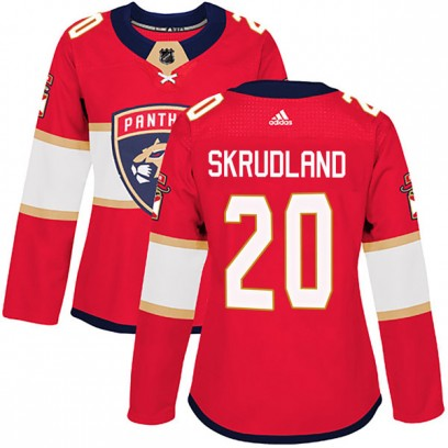 Women's Authentic Florida Panthers Brian Skrudland Adidas Home Jersey - Red