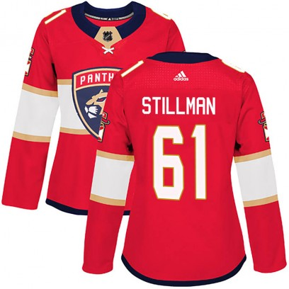 Women's Authentic Florida Panthers Riley Stillman Adidas Home Jersey - Red