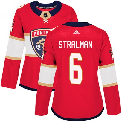 Women's Authentic Florida Panthers Anton Stralman Adidas Home Jersey - Red