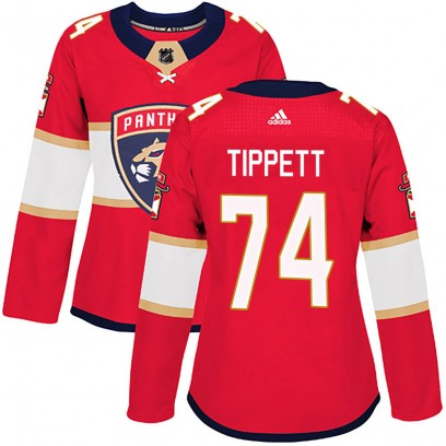 Women's Authentic Florida Panthers Owen Tippett Adidas Home Jersey - Red