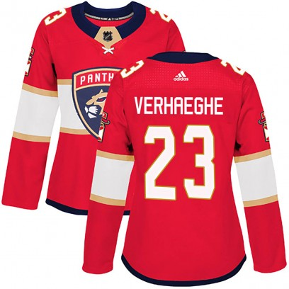 Women's Authentic Florida Panthers Carter Verhaeghe Adidas Home Jersey - Red