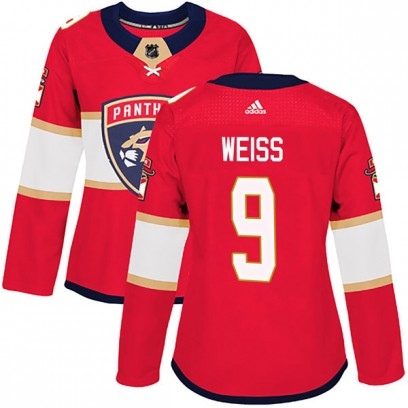 Women's Authentic Florida Panthers Stephen Weiss Adidas Home Jersey - Red