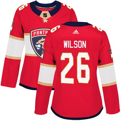 Women's Authentic Florida Panthers Scott Wilson Adidas Home Jersey - Red