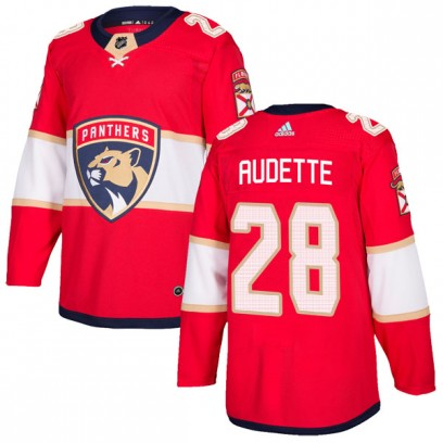 Men's Authentic Florida Panthers Donald Audette Adidas Home Jersey - Red