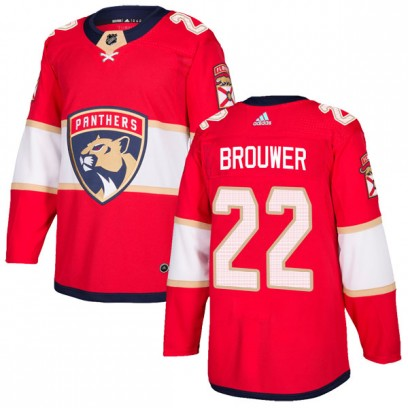 Men's Authentic Florida Panthers Troy Brouwer Adidas Home Jersey - Red