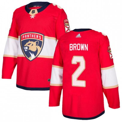 Men's Authentic Florida Panthers Josh Brown Adidas Home Jersey - Red