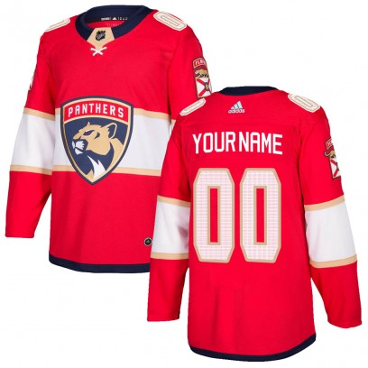 Men's Authentic Florida Panthers Custom Adidas Home Jersey - Red