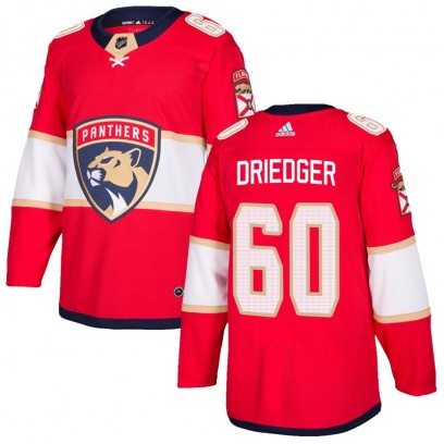 Men's Authentic Florida Panthers Chris Driedger Adidas Home Jersey - Red