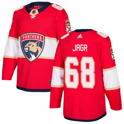 Men's Authentic Florida Panthers Jaromir Jagr Adidas Home Jersey - Red