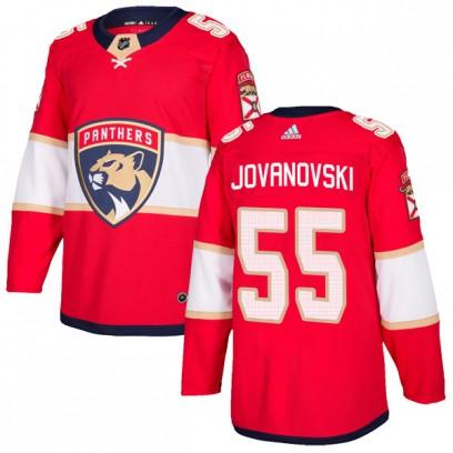 Men's Authentic Florida Panthers Ed Jovanovski Adidas Home Jersey - Red