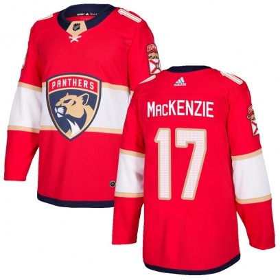 Men's Authentic Florida Panthers Derek Mackenzie Adidas Derek MacKenzie Home Jersey - Red
