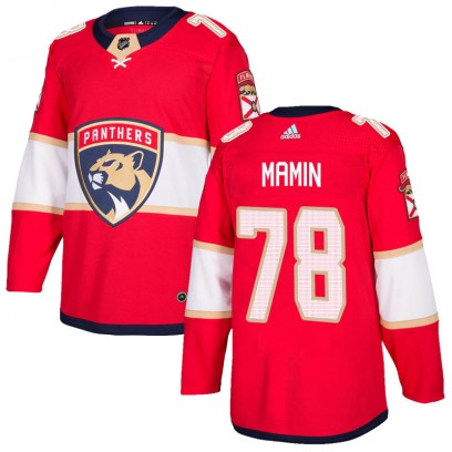 Men's Authentic Florida Panthers Maxim Mamin Adidas Home Jersey - Red
