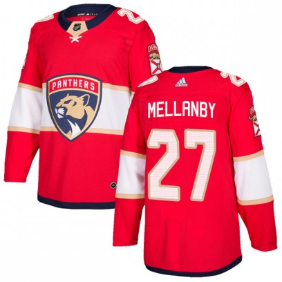 Men's Authentic Florida Panthers Scott Mellanby Adidas Home Jersey - Red