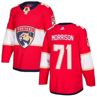 Men's Authentic Florida Panthers Brad Morrison Adidas Home Jersey - Red