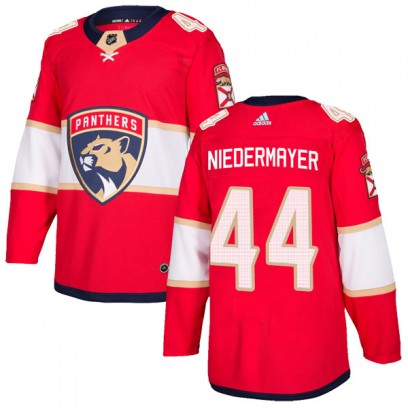 Men's Authentic Florida Panthers Rob Niedermayer Adidas Home Jersey - Red