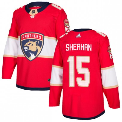 Men's Authentic Florida Panthers Riley Sheahan Adidas Home Jersey - Red