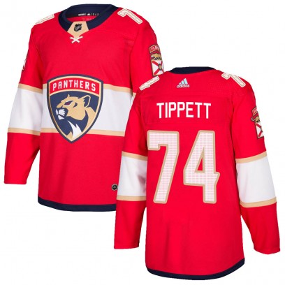 Men's Authentic Florida Panthers Owen Tippett Adidas Home Jersey - Red