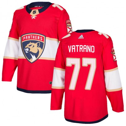 Men's Authentic Florida Panthers Frank Vatrano Adidas Home Jersey - Red