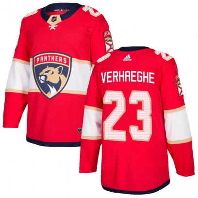 Men's Authentic Florida Panthers Carter Verhaeghe Adidas Home Jersey - Red