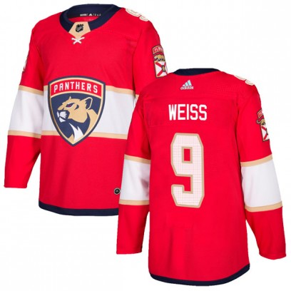 Men's Authentic Florida Panthers Stephen Weiss Adidas Home Jersey - Red